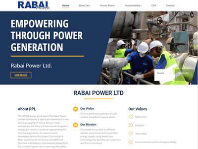 Rabai Power Website
