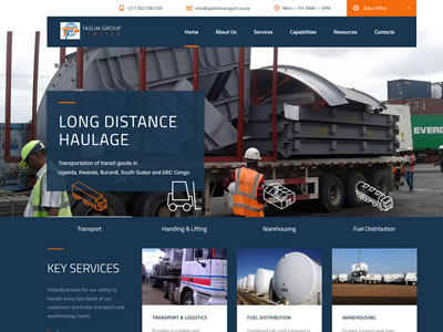 Transport and Logistics company website design in Mombasa